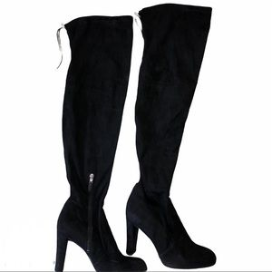 Sam Edelman Black Suede Over The Knee Boots